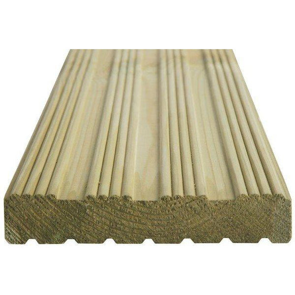 Arbordeck Treated Decking ex 32mm x 150mm (6''), Various Lengths