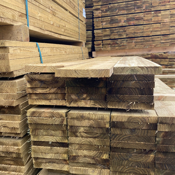 Treated Fence Boards 22mm x 100mm (4