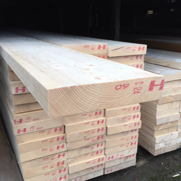 Untreated C24 Sawn Carcassing 47mm x 225mm (EX 9X2)