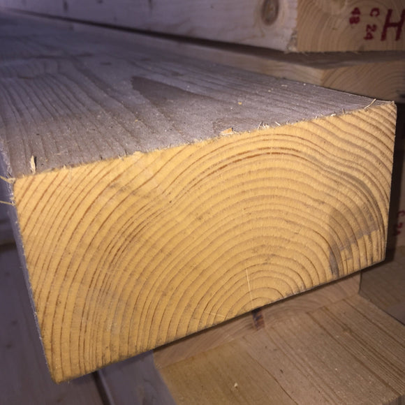 Untreated C24 Sawn Carcassing 75mm x 150mm (EX 6X3) 4.8m