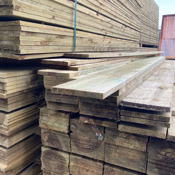 Treated Fence Boards 16mm x 150mm x 2.4m