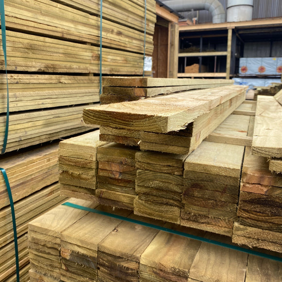 Treated Fence Boards 16mm x 100mm (4'') x 1.8m