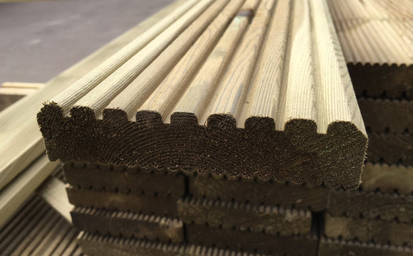 Swedish Treated Decking Ex 32mm x 125mm x 4.2m Length