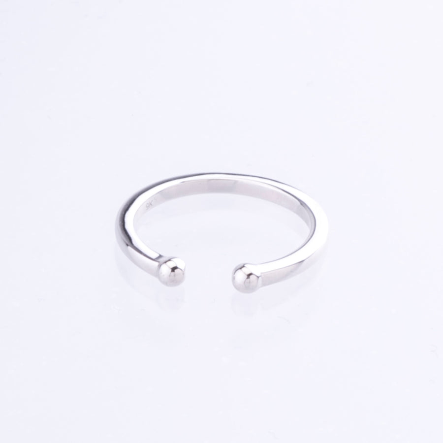 White Gold Dot Cuff Ring