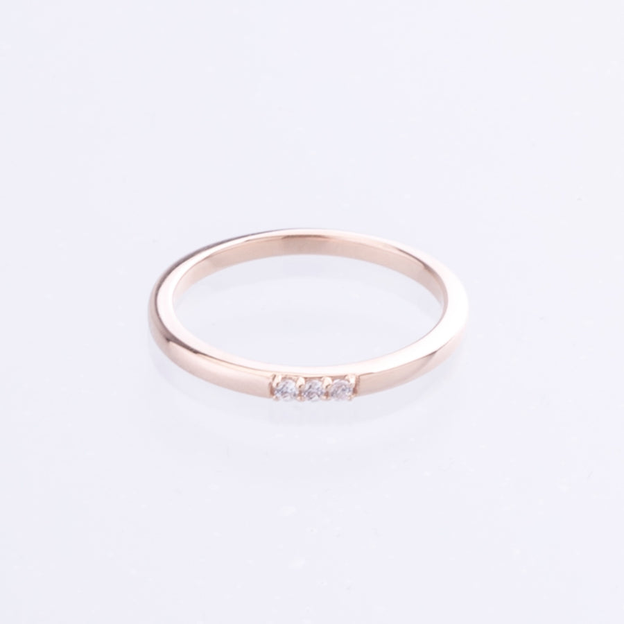Rose Gold Gemstone stacker ring