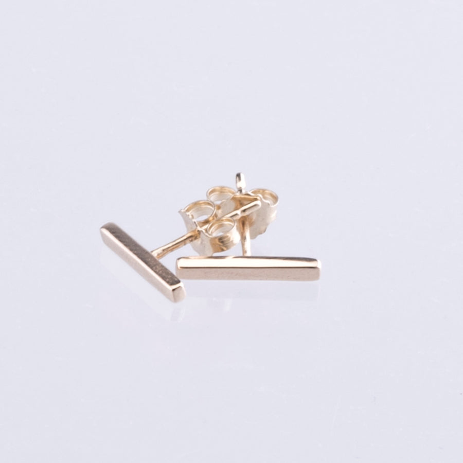 9ct Yellow Gold Bar Earrings
