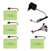 Upgrade 6v 3000mah NiMH Battery Charger sets For Rc Toys Cars Tank Truck Robots Guns Boats AA Ni-MH 6v Rechargeable Battery Pack