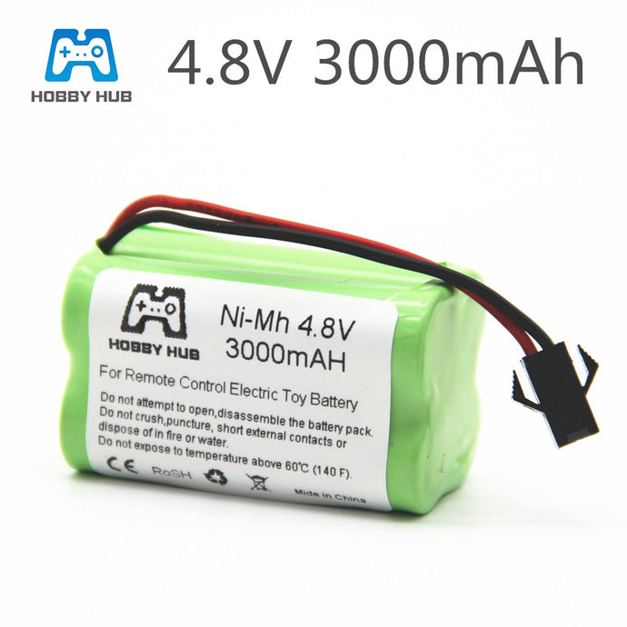 Battery 1/2/4pcs NI-MH 4.8V 3000mah rechargeable Battery For RC cars