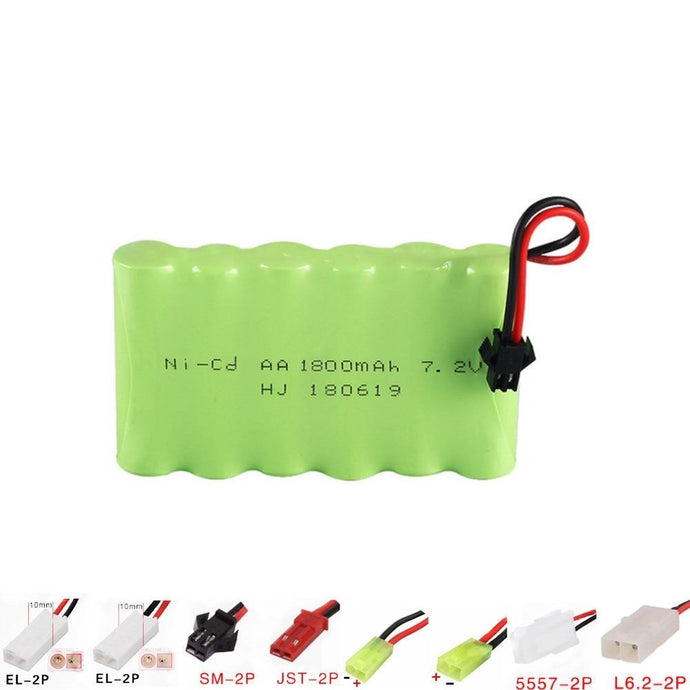 Battery 7.2v 1800mah NI-CD Rechargeable AA Battery for RC car ship robot