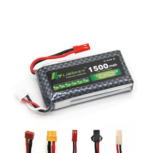 High Rate 7.4V 1500mAh Lipo Battery For RC Helicopter Parts 2s Lithium battery 7.4 v 30C Airplanes battery with JST/T/XT60 Plug