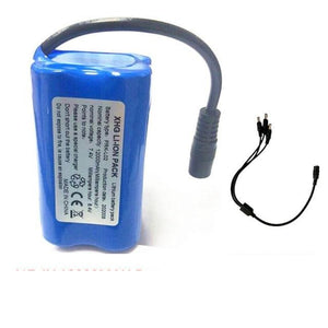 7.4V 12000Mah 5200Mah Battery 3To1 Line ChargerFor T188 T888 2011-5 V007 C18 H18 So on Remote Control RC Fishing Bait Boat Parts