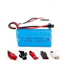 Battery 7.4V 3000mah18650 2S T Plug for Q46 Wltoys 10428 /12428/12423
