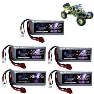 HIGH POWER RC Car Lipo Battery 7.4V 3600mAh Max 60C For Wltoys 12428 12423 RC Car Upgrade part 2s 7.4v Battery for feiyue 03 Q39