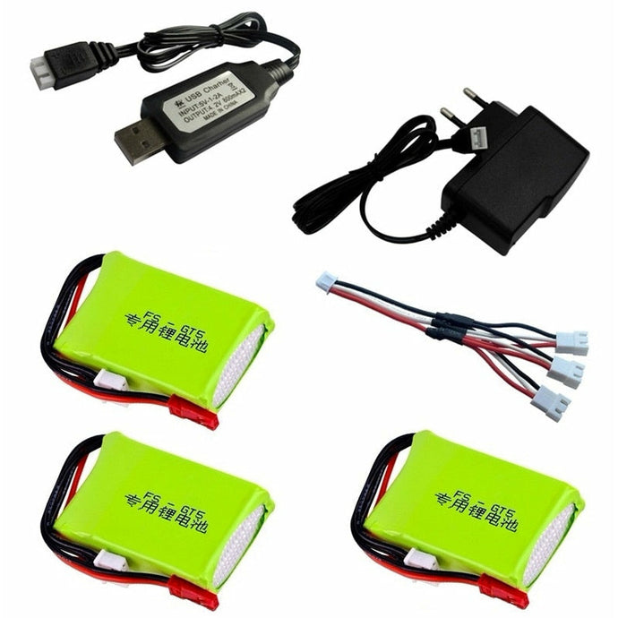 7.4v 1500mah Lipo Battery and Charger Set for Flysky FS-GT5 MC6C/MCE7