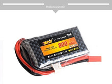 Battery 2S 7.4v 800MAH zf-6a mc-e7 transmitter remote control