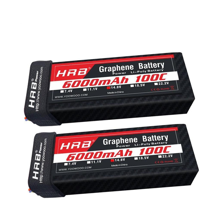 Battery 14.8V 6000mah Graphene RC Battery 100C with T Plug for RC Helicopter