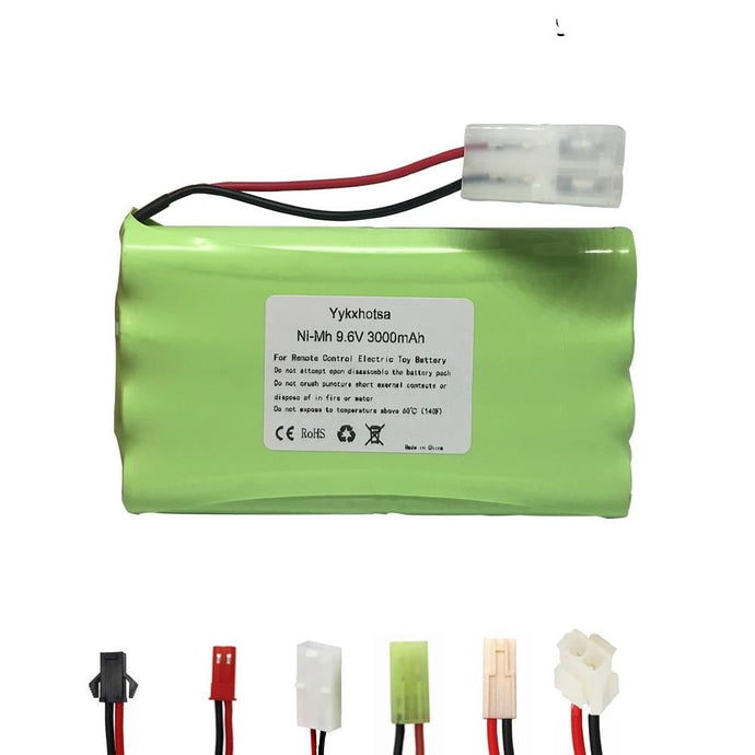 Battery 9.6V 3000mAh NI-MH battery 9.6V AA battery for RC toys Car Tanks