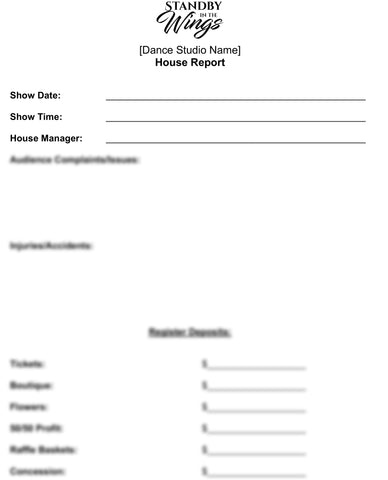 House Manager Form Template