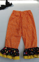 Halloween ruffle pants & headband set