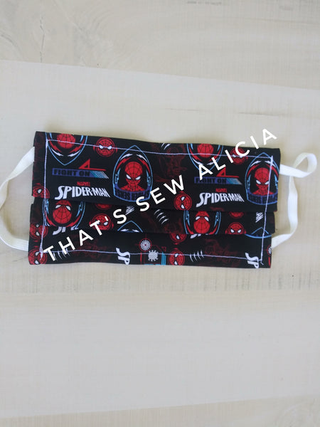 Fabric face mask, Spiderman