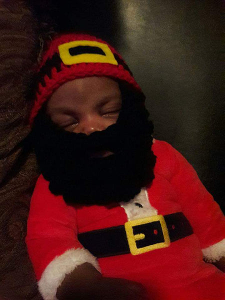 Crochet Santa beard hat