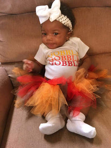 Gobble, Gobble, Gobble Thanksgiving 3pc tutu set