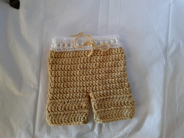 Crochet shorts, newborn photo prop