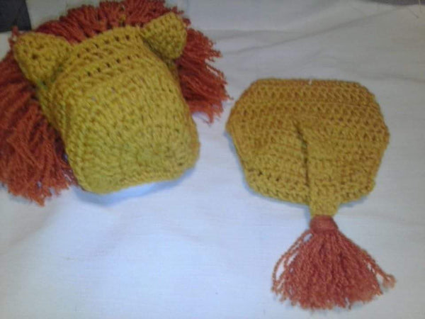 Crochet lion 2pc diaper set