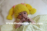 Cabbage Patch kids hat, Halloween, baby wig