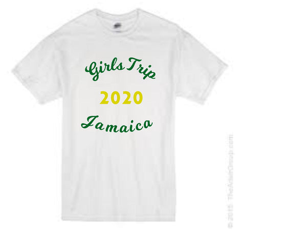 Girls trip Jamaica theme 2020 t-shirt