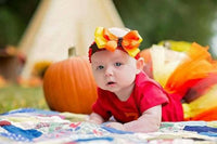 Fall color tutu and matching bow headband