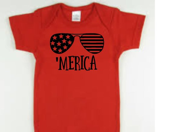 'Merica red baby bodysuit