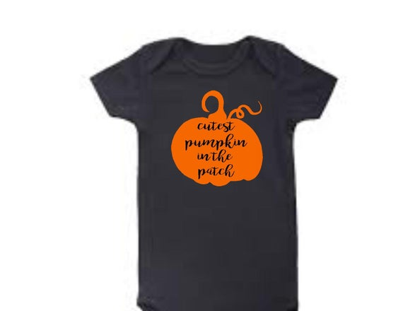 Cutest pumpkin in the patch Halloween bodysuit