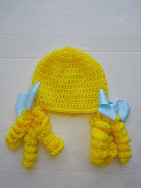 Goldie locks crochet hat