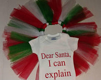 Dear Santa I can explain Christmas tutu set