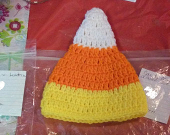 Candy corn Halloween diaper set