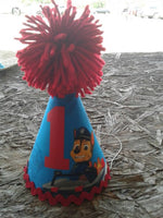 Paw patrol inspired Chase birthday hat