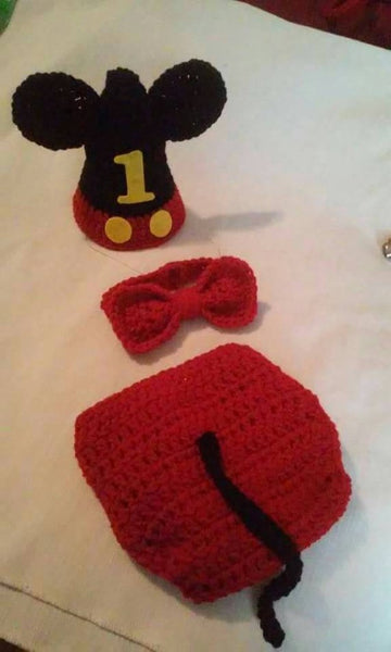 Mickey mouse inspired 1st birthday set