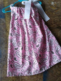 Pink paisley pillowcase dress