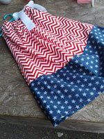 Red, white and blue, patriotic pillowcase dress