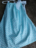 Mint green and white chevron pillowcase dress