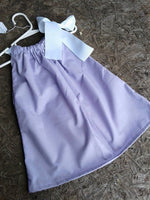 Lilac, light purple, pillowcase dress