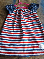 Red, white & blue pheasant dress