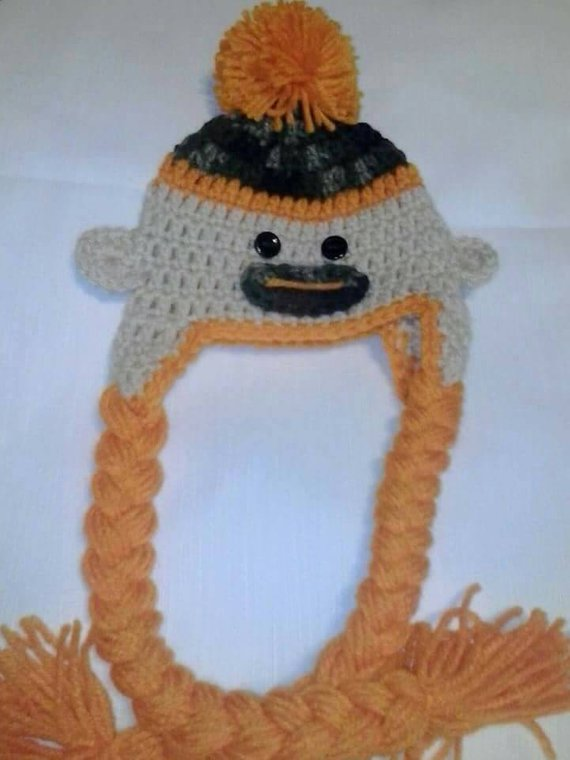 Sock monkey camouflage hat