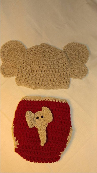 Alabama elephant inspired newborn set