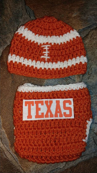Texas Football inspired newborn set