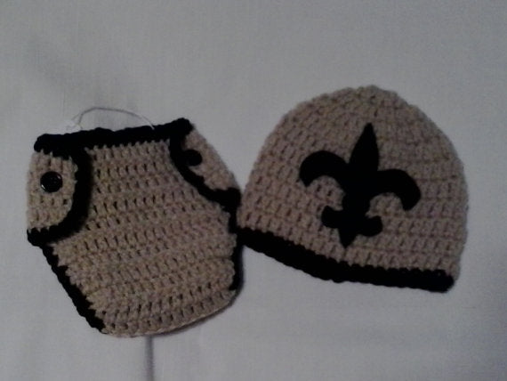 New Orleans inspired newborn diaper set