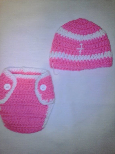 Football newborn set, hot pink