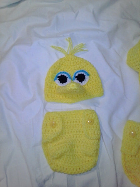 Big Bird inspired newborn set