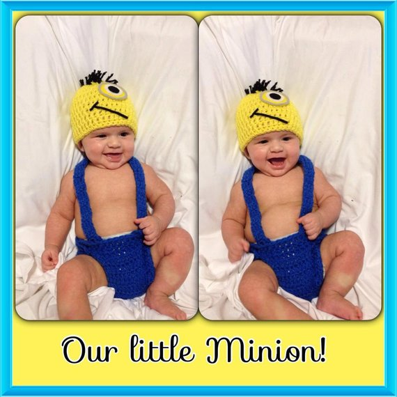 Minion inspired newborn set, photography prop